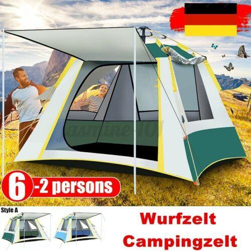 Campingzelt 4-6 Personen Wurfzelt Automatikzelt Zelte Trekkingzelt Familienzelt