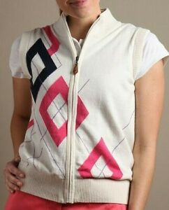 Ladies-Lined-Argyle-Sweater-Vest-Ivory-w-Navy-and-Pink