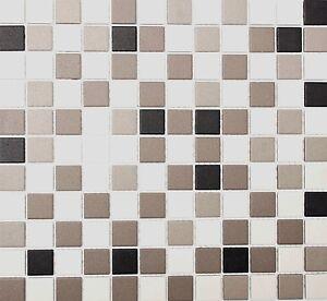 Das Bild Wird Geladen Mosaik Keramik Grau Beige Bad Pool Sauna Kueche