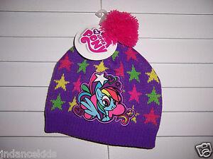 My Little Pony RAINBOW DASH Girl s Purple Winter Knit Hat Cap Beanie ... daca5c1385d7