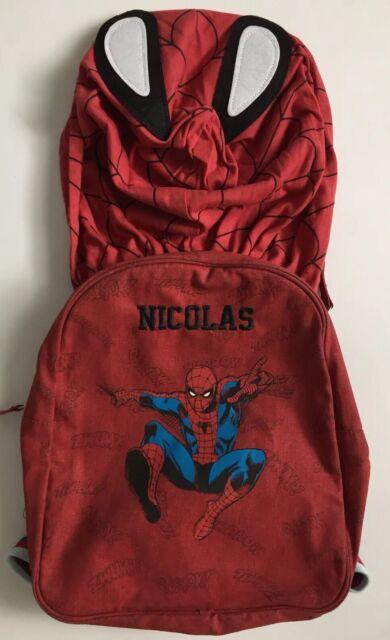 Pottery Barn Kids Spiderman Hoodie Backpack Nicolas New