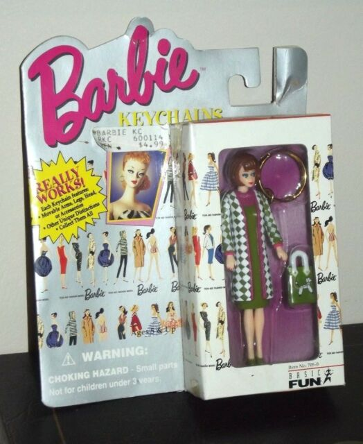 Vintage BARBIE 1965 STYLE POODLE PARADE Collectible KEY CHAIN Mattel Doll NEW
