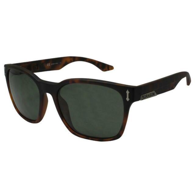 NEW DRAGON DR511S 226 Matte Tortoise LIEGE Sunglasses with Green Lenses