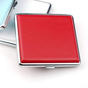 Red-Leather-Cigarette-Box-Case-Hold-For-20-Cigarettes-300B