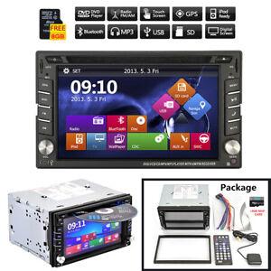 2-DIN-GPS-Navigation-HD-Car-Stereo-DVD-CD-Player-FM-AM-Bluetooth-Auto-Radio-iPod
