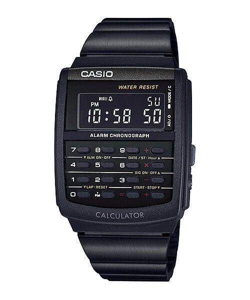 CA-506B-1A Black Casio Unisex Watches Data Bank Calculator Dual time Alarm New
