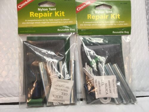 Lot de 2 x Nylon Tente Kit de Réparation complet pour Champ Réparation Livraison Gratuite