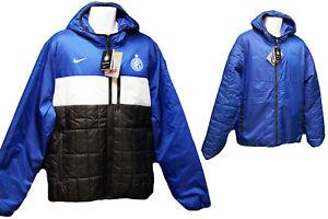 New-NIKE-Mens-INTER-MILAN-Football-Reversible-JACKET-BENCH-COAT-Jacket-Blue-XL