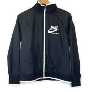 Nike Sportswear Women's Black Windbreaker Full Zip Up Jacket, Size Small