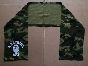 Bape A Bathing Ape Camo College Logo Scarf - Nigo, Japan, 100% Authentic