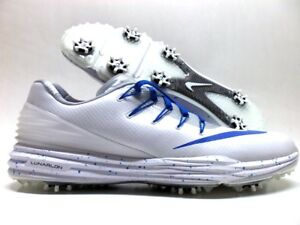online store 07559 ba866 Image is loading NIKE-LUNAR-CONTROL-4-ID-GOLF-CLEAT-WHITE-