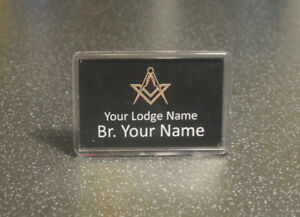 Personalised Name Plaque - Freemason - Masonic - Festive Board