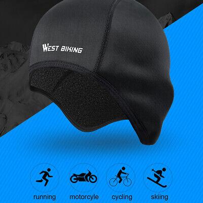 Black Winter Skiing Cap Windproof Warm Cycling Running Outdoor Hiking Hat