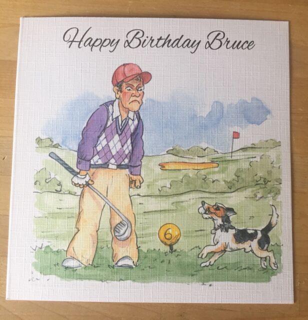 Handmade Personalised Witty Funny Golf Golfer Birthday Card