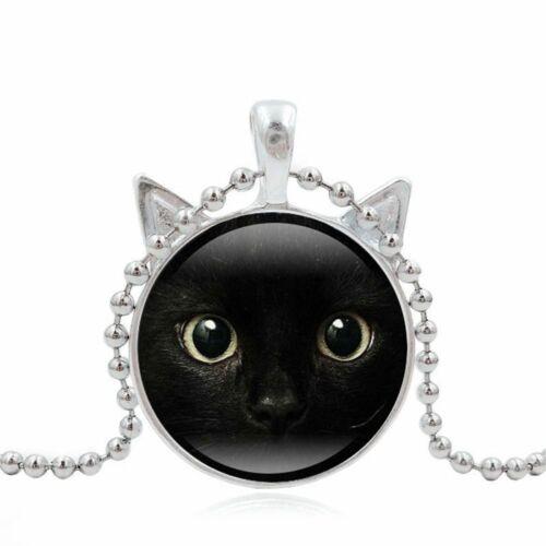 Filles Cadeau Vintage Gems chaîne Fille Femmes Cat Collier 3 couleurs Pendentif Bijoux