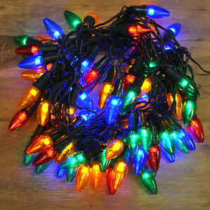 80 LED Multi Colour Multi-Action Large Bulb String Lights (Mains ...