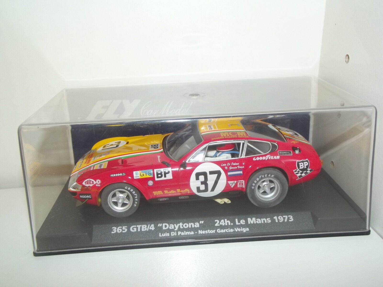 365 gtb  4 Daytona 24h Le Mans 1973-fly voiture Collection-slot - 1 32 -- e22  magnifique