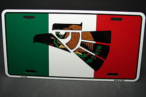 MEXICO FLAG METAL ALUMINUM CAR LICENSE PLATE TAG