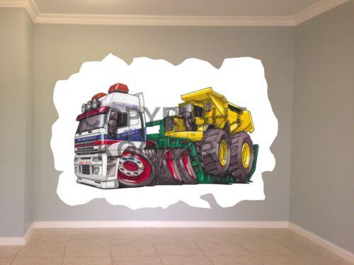 Huge Koolart Cartoon Iveco Low Loader Wall Sticker Poster Mural 674