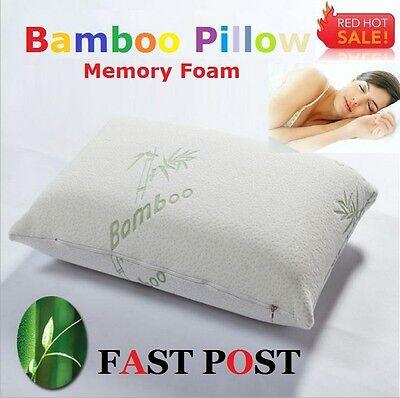 Anti-bacteria Luxury Bamboo Pillows Memory Foam Fabric Fibre+Extra Cover 60x40cm