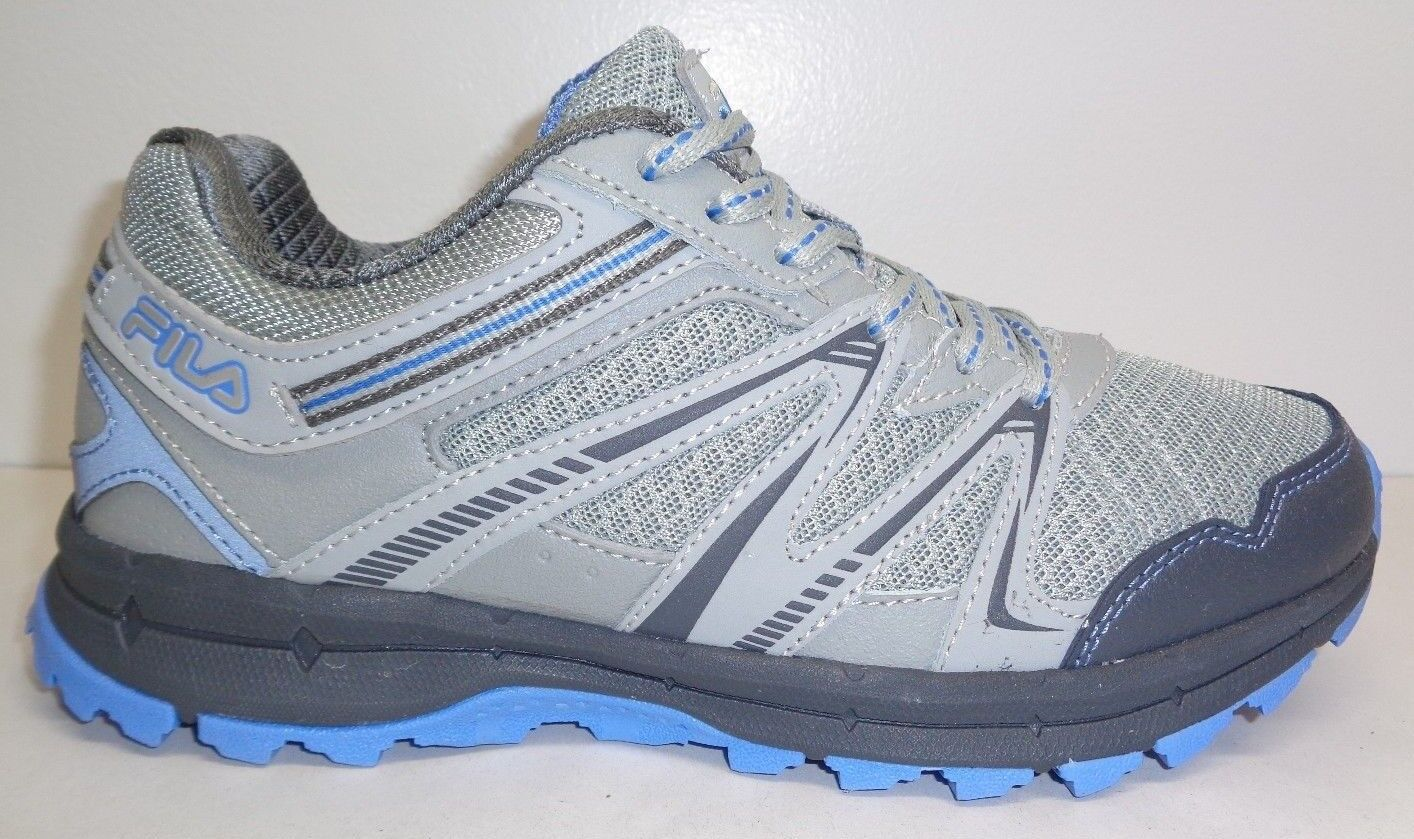 Fila Size 8.5 NORTHAMPTON Grey Light Blue Trail Sneakers New Womens Shoes