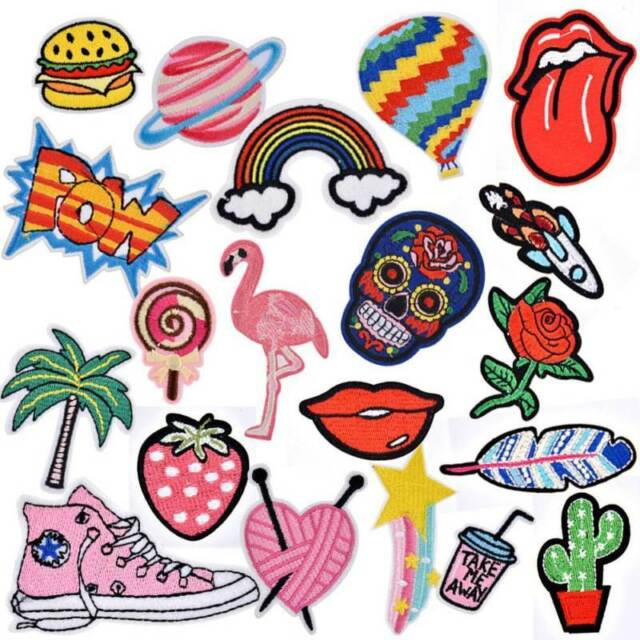 dbe108106fc18 20pcs Iron on Patches DIY Embroidered Patch Sew Decoration Appliques  Stickers