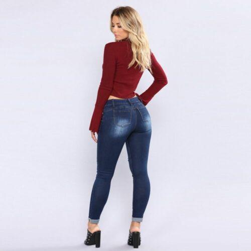 Pantalones Jeans De Tiro Alto Cintura Alta Levanta Cola Vaqueros Para Mujer 2020