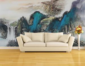 3D Hills Paint 4077 Wallpaper Murals Wall Print Wallpaper Mural AJ WALL UK Carly