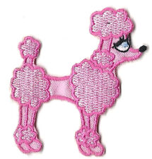 Poodle w//Beach Chair Cocktail Embroidery Patch