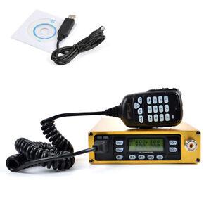70CM-2-Meters-Packable-Car-Radio-Portable-Mobile-Transceiver-25W-Program-Cable