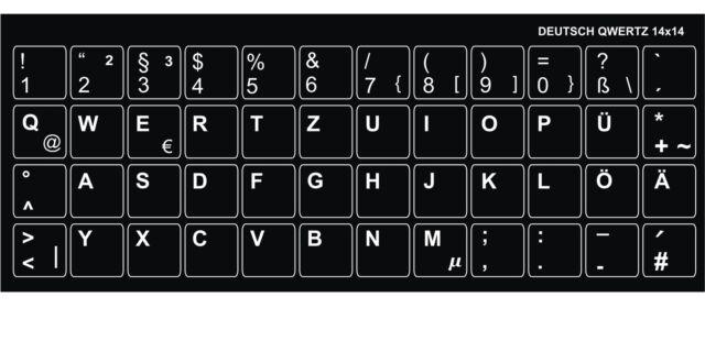 Tastaturlayout Deutsch