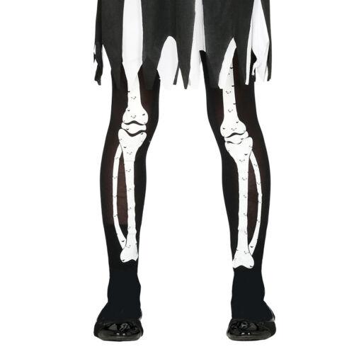 Strumpfhose mit Knochen 5-9 Jahre Skelett Kinderstrumpfhose Gerippe Strümpfe