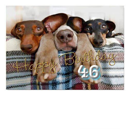 DigitalOase 46 Geburtstag Glückwunschkarte Geburtstagskarten #055