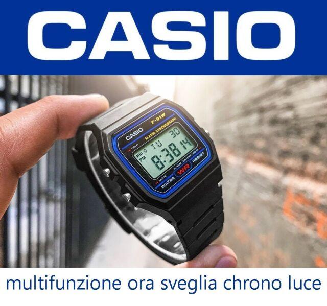CASIO CLASSIC F91W OROLOGIO NERO ELEGANTE SPORT CASUAL CRONO MULTIFUNZIONE A159W