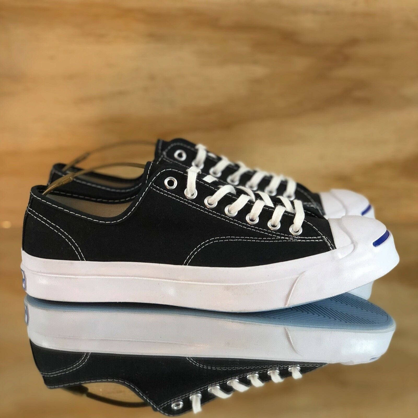 Converse Jack Purcell firma Top Ox Negro Blanco Low Top firma tenis [147560C] 786100