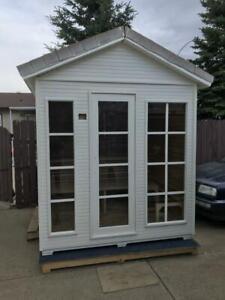 outdoor sauna $6.3x6.3x9, floor model  $3400 plus heater, storage room or play room. Edmonton Edmonton Area Preview