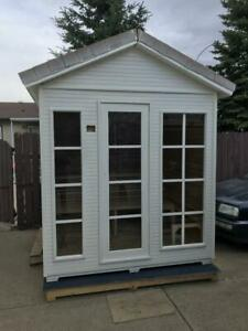 outdoor sauna $6.3x6.3x9, brand new in box $3700 plus heater, storage room or play room. Edmonton Edmonton Area Preview