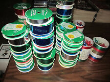 CHRISTMAS WHOLESALE LOT Of 10 CHRISTMAS RIBBONS Various COLORS & SIZES
