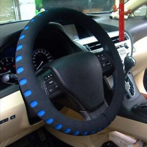 38CM-Black-Blue-Eva-Foam-Sport-Soft-Car-Auto-Steering-Wheel-Covers-Cap-Anti-slip