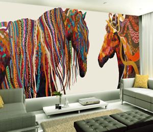 3D Abstract Horses 85 Wall Paper Murals Wall Print Wall Wallpaper Mural AU Kyra