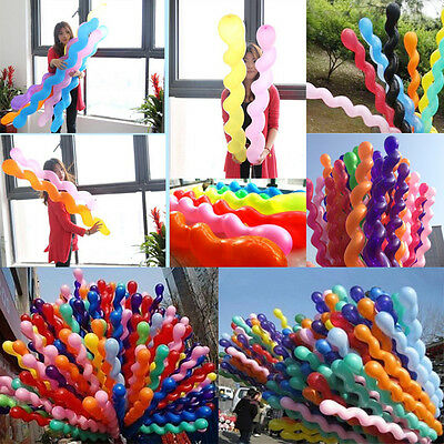 Gift 100pcs Latex Rubber Helium Spiral Balloons Party Wedding Birthday Supplies