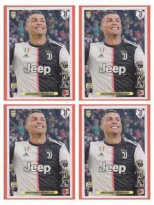 4 X Cristiano Ronaldo CR7 Sticker Panini Fifa 365 2020 2021 #7 Invest