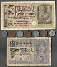Rare Old WWI WWII Nazi Germany War Eagle Coin Note German Unique Collection Lot
