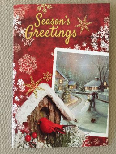 "/""Season/'s Greetings/"" Christmas Card By Tri Land Corporation~6/"" X 4/"" BRAND NEW!"