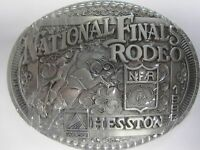 National Finals Rodeo Hesston 1998 Nfr Adult Cowboy Buckle Prca Agco Orig Pkg