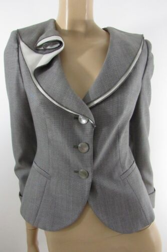 Armani Størrelse Collezioni Layer Double Collar 4 Jacket Sjal Grey 00xwAnr
