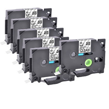 6 Pk Tz M31 Tze M31 Black On Matte Clear Label Tape For Brother P Touch 12mm 8m
