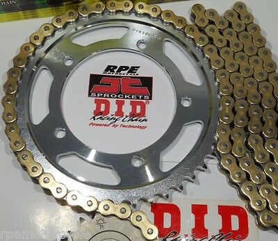 TRIUMPH 600 TT JT GOLD 520 QUICK ACCELERATION or OEM CHAIN AND SPROCKETS KIT