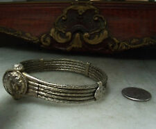 Antique Sterling Silver Victorian Rare Floral Bracelet