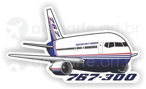 Boeing 767-300 aircraft sticker